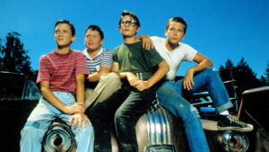 No Merchandising. Editorial Use Only. No Book Cover Usage. Mandatory Credit: Photo by Moviestore/REX/Shutterstock (1617242a) Stand By Me, Wil Wheaton, Jerry O'connell, Corey Feldman, River Phoenix Film and Television